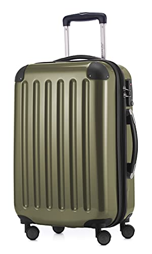 HAUPTSTADTKOFFER - Alex – Set di 3 valigie trolley, valigetta da viaggio espandibile, TSA, 4 ruote, (S, M e L), Avocado, 55 cm,