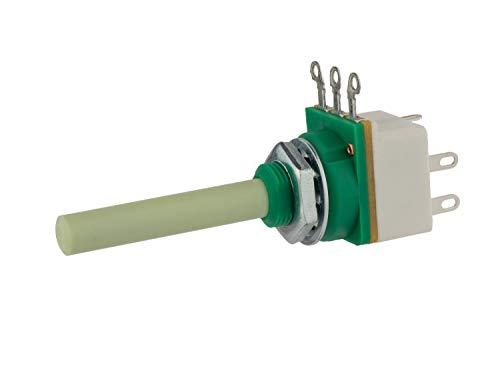 4K7A Potenciómetro de interruptor giratorio, lineal, 0,25 W – Montaje en panel con terminales de circuito impreso