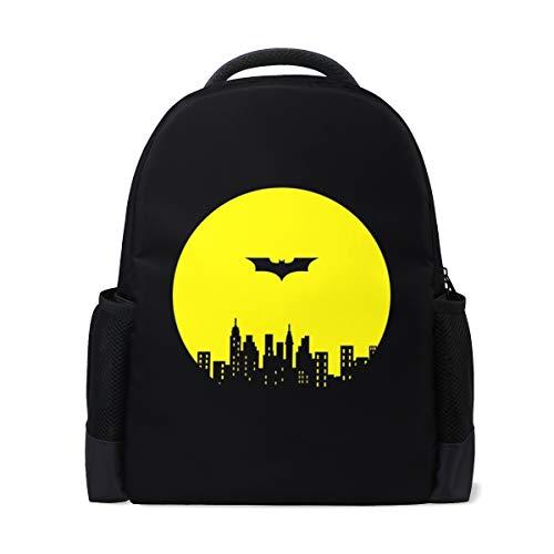 ISAOA Mochila escolar para niños y niñas, color negro, mochila casual de Batman
