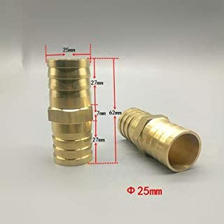 Pipe Fittings - Brass Barb Pipe Fitting 2 3 way connector For 25mm hose copper Pagoda Water Tube Fittings T way 1'' pipe f...