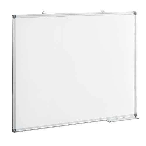 [pro.tec] Whiteboard 100 x 80 cm Magnettafel Weiß Schreibtafel Magnetische Wandtafel Magnetwand Weißtafel Memoboard