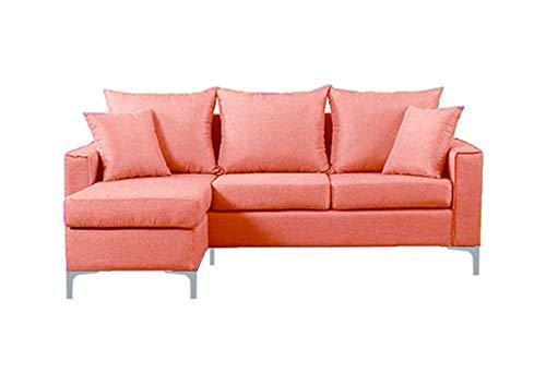 Canapé d'angle Orange Tissu Moderne Petit