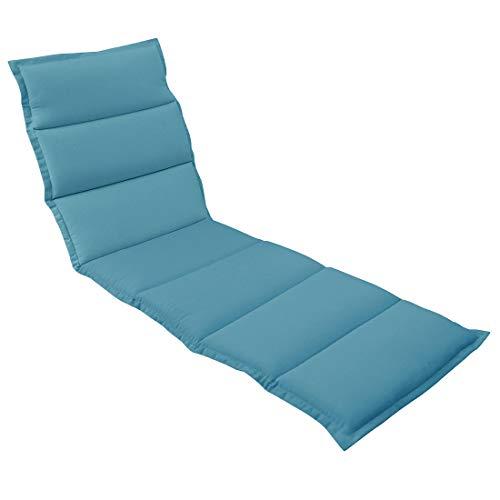 OUTLIV. Polsterauflage für Liegen Liegen-Auflage 190x60 cm Hellblau Auflage für Rollliegen, Sonnenliegen und Gartenliegen