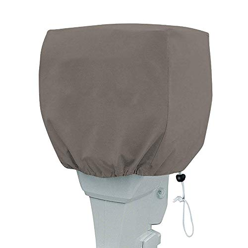 For Sale! PrimeShield Outboard Motor Cover, Waterproof Boat Motor Covers, 600D Heavy Duty Motor Hood Cover, Outboard Engine Cover Fits Motor Up to 20Hp