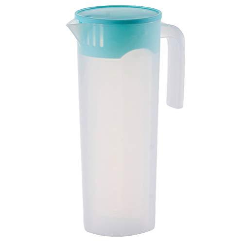 Hemoton Jarra de plástico grande de 1 litro con tapa, jarra para agua caliente y fría, resistente al calor para zumo, leche, recipiente para bebidas, hervidor para té frío