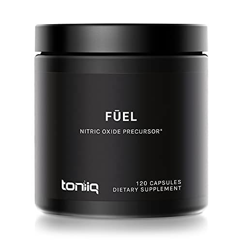 Fuel by Toniiq - 3,000mg Nitric Oxide Booster - 99% Purified L-Arginine - 99% Purified L-Citrulline - Min. 4% Beet Root Nitrates - Clinically Proven Velox Blend - 120 Veggie Capsules