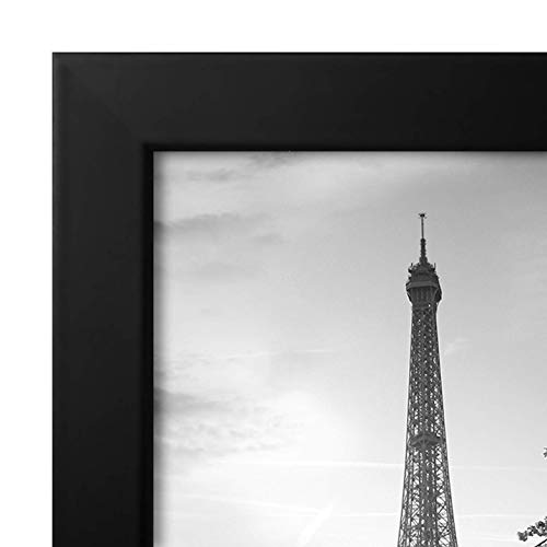 Americanflat 8x12 Picture Frame in Black with Shatter Resistant Glass - Horizontal and Vertical Formats for Wall and Tabletop