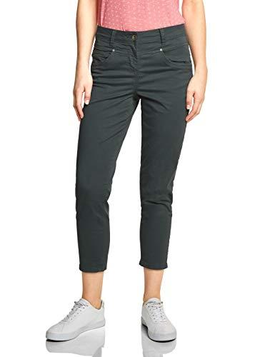 Cecil Damen Tracey Casual Fit Hose mit Punktemuster, Slate Green, W27/L26(Herstellergröße:27)