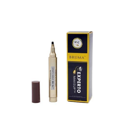 Bruma Bolígrafo para cejas efecto microblading Waterproof 72 horas de duración sin níquel look natural color marrón oscuro 200 aplicaciones