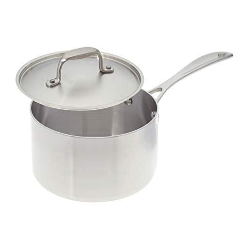 American Kitchen Cookware 3 Quart Stainless Steel Saucepan with Lid