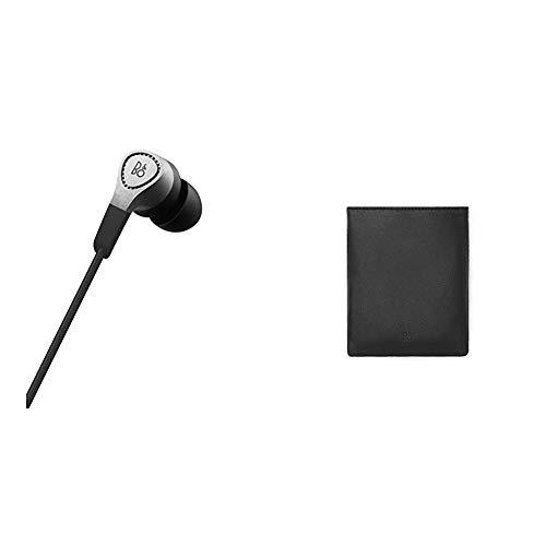 Bang & Olufsen Beoplay H3 In-Ear Kopfhörer, natural + Lederbeutel für Kopfhörer Schwarz