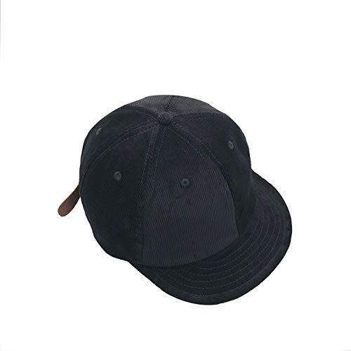 sdssup Frühling und Sommer europäischen und amerikanischen Retro-Denim Short Caps Original Cord Wild Street Curling Hut schwarz einstellbar