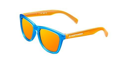 NORTHWEEK Kids Chase - Gafas de Sol para Niño y Niña, Polarizadas, Naranja/Azul