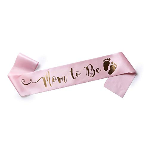 OLILLY Perfect Pink Mom to Be Sash - Enjoy Your Baby Shower (Pink)