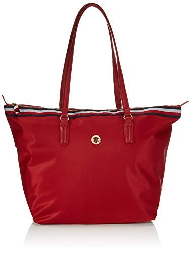 Tommy Hilfiger Damen Poppy Tote Taschen, Corp Arizona Rot, One Size