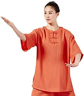 Tai Chi Practice Clothing Kung Fu Clothing Cotton Sleeved Clothing Martial Arts Clothing Summer Linen Short Sleeves Martia...