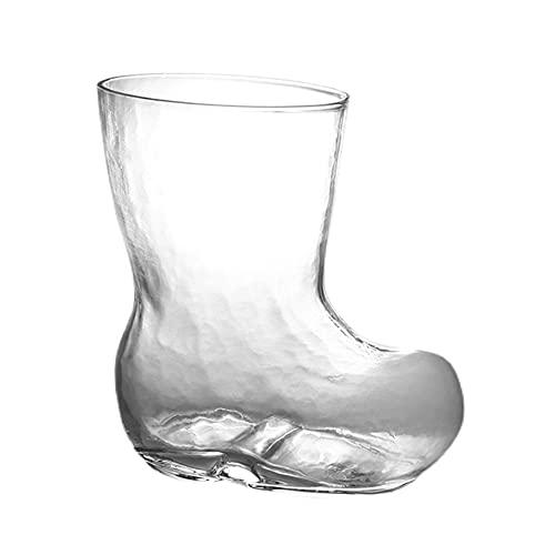 XDYNJYNL ブーツ型グラスカップ、ハイボールコップ、クリアトールカクテルウォーターグラス、幼児用カップ、コーヒーカップ、ラテ用エスプレッソカップ、ビール、ジュースミルク、お茶、バーウェア