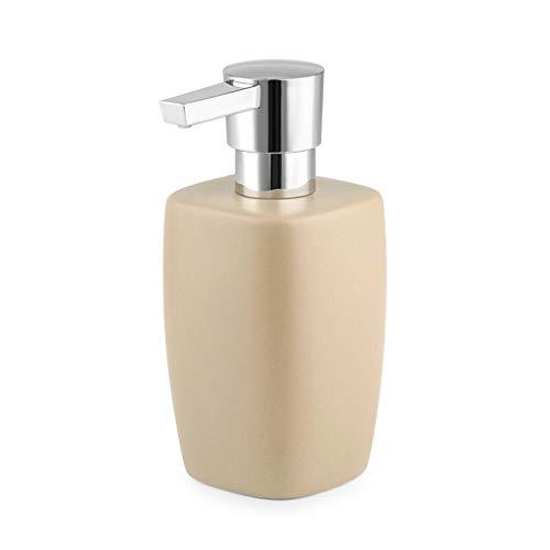 Household Dispensador de Jabón Dispensador de jabón de cerámica mate cuadrado hecho a mano líquido desinfectante de manos dispensador de plástico cromado cabeza de la bomba simple creativo accesorios