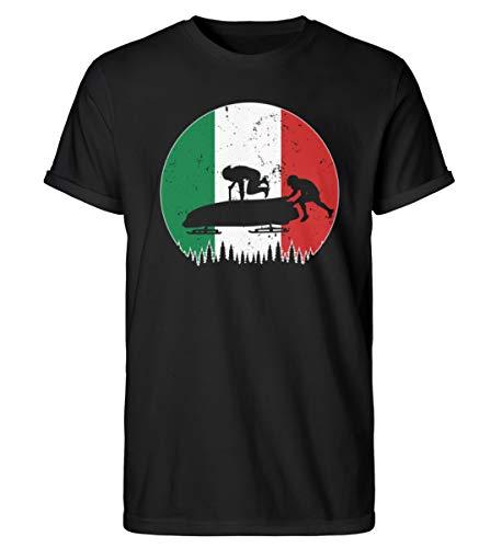 Bobsport 676 - Camiseta para hombre de la Copa Mundial de Italia Negro S