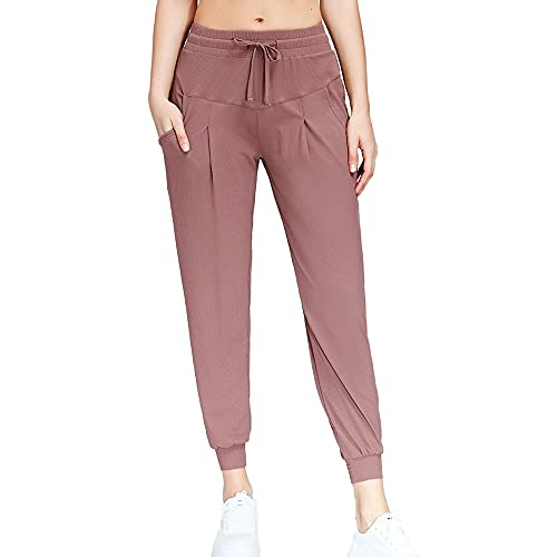 N\P Deportes Break Loose Legged Running Fitness Color sólido bolsillo cintura alta pantalones de yoga