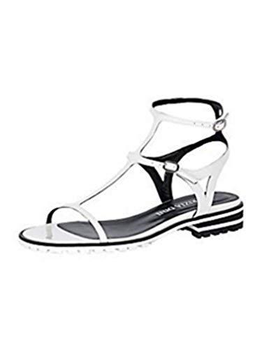 Sandalette Damen aus Lackleder von Patrizia Dini - Weiß Gr. 42