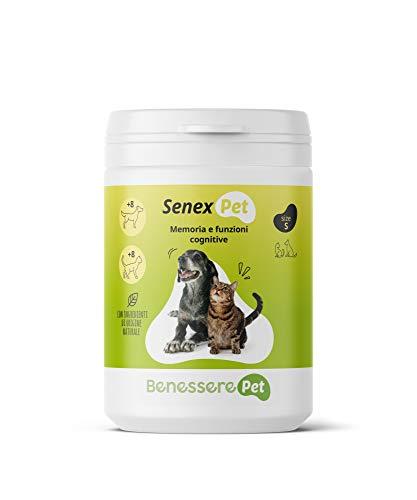 BenesserePet Senex Suplemento para Perros Mayores 100gr, Apoyo a la Memoria y Funciones Cognitivas de Perros y Gatos Mayores, Suplementos energéticos, Fuente de Vitaminas para Animales