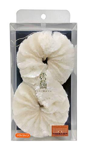 雪繭 美容ボディブラシ 純国産シルク100% シミ くすみ マッサージ 無添加 (ボディブラシ(特大), 絹糸&生糸 (ドライ))