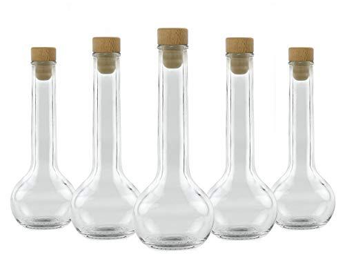Glasflasche 200 ml leer 20x Tulipano Flaschen für Essig Öl Schnaps Likör Grappa Whisky