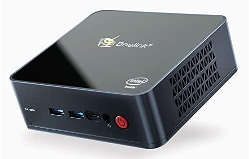 Beelink GK55 Mini PC Intel Processor J4125(up to 2.7GHz) Windows 10 Pro, 8G LPDDR4/256G SSD, Business Mini Desktop Computer, 4K UHD, 2.4G/5G Dual WiFi, BT4.0, Dual HDMI Ports, Dual Gigabit Ethernet