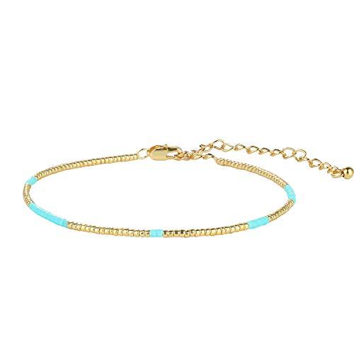 C·QUAN CHI Bracelet à Brins Miyuki Bracelet en Vrac Fait à La Main Bracelet à Chaîne Classique D'amitié pour Les Cadeaux De Festival