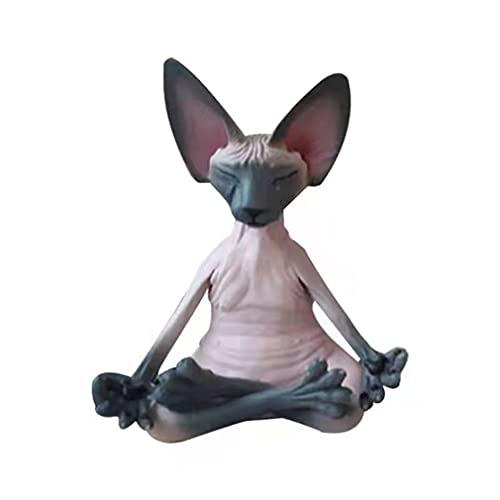 Dpatleten Figuras coleccionables de Gato, decoración Hecha a Mano, Estatua de Gato para la colección del hogar, artesanía F 6 * 4 * 8 cm