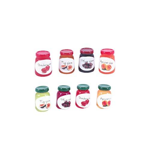 Exceart - Lote de 8 mini utensilios de cocina para casa de muñecas, accesorios de cocina para casa de muñecas, miniatura, decoración de muebles infantiles, juguete de regalo (color mezclado)
