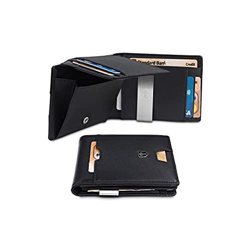 portafoglio carte di credito TRAVANDO Portafoglio uomo sottile con Clip per Contanti BRISBANE Protezione RFID Porta carte di credito Portafogli Porta tessere slim tascabile