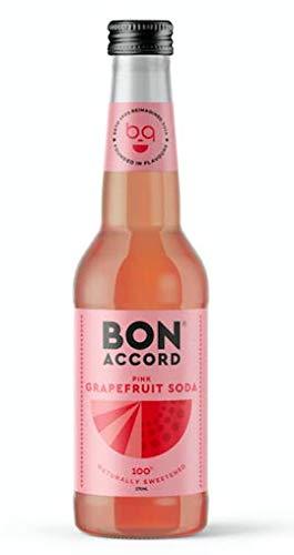 Bon Accord Pink Grapefruit Soda 275 ML x 12, 100% Naturally Sweetened, No...