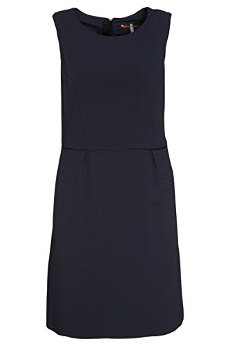 BOSS Orange Damen Ärmellos Kleid Ameschy2, Blau (Dark Blue 405), 42 (42)