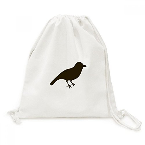 DIYthinker Black Sparrow Tier Portrayal Canvas-Rucksack Reisen Shopping Bags