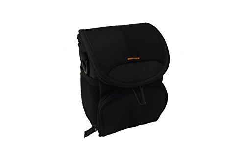 vhbw Tasche Gürteltasche schwarz passend für Kamera Canon Powershot SX530 HS, SX600 HS, SX610 HS, SX710 HS.