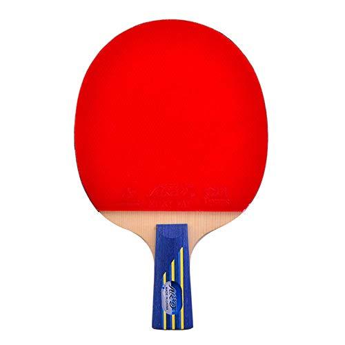 KCGNBQING Pipistrello da Ping-Pong Professionale, Fibra di Carbonio Ping Pong Racket, for Intermedio e avanzato/Come Mostrato/Maniglia Corta (Color : As Shown, Size : Short Handle)