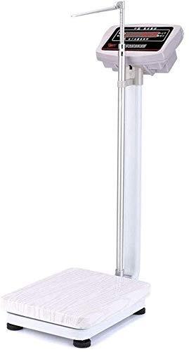 JINHH Waage Präzisions-Elektrizitätswaagen - Größen- und Gewichtswaagen, Digitale Arztwaagen, Faltbare Höhenstangen aus Aluminiumlegierung, Digitale HD-Monitore
