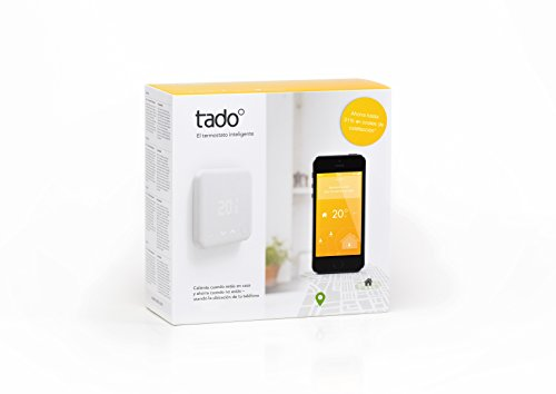 tado° Kit de Inicio V2, Termostato Inteligente, Control Inteligente de Calefacción, Trabaja con Amazon Alexa, Asistente de Google, IFTTT