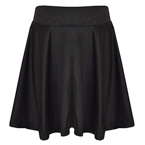 A2Z 4 Kids A2Z 4 Kids Mädchen Rocks Kinder Schule Mode Sommer - Plain Skater Skirt Black 11-12