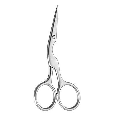 2021NEWEST Eyebrow tweezers, scissors (silver)
