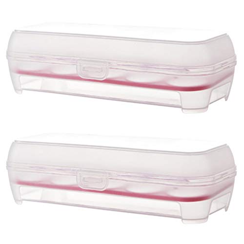Hemoton 2 Stuks 10 Rooster Koelkast Plastic Ei Houder Koelkast Ei Opslag Organisator Eierrekje Voor Keuken Benodigdheden (Rood)