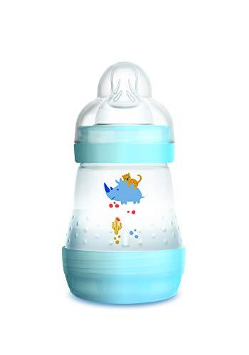 Mam - Biberon anti coliche, 160 ml, 0 - 6 mesi, flusso tipo 1, Colore Blu