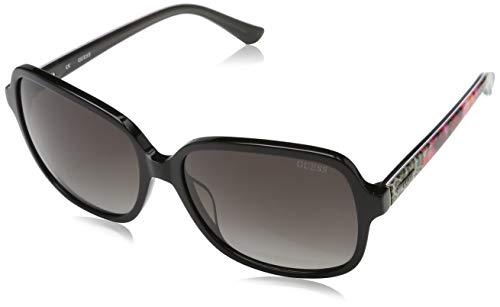 GUEX5 GU7382 6001B Sonnenbrille GU7382 6001B Groß Sonnenbrille 60, Schwarz