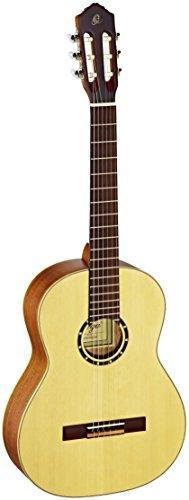 Ortega Guitars R121 Konzertgitarre in 4/4 Größe natur im seidenmatten Finish mit hochwertigem Gigbag