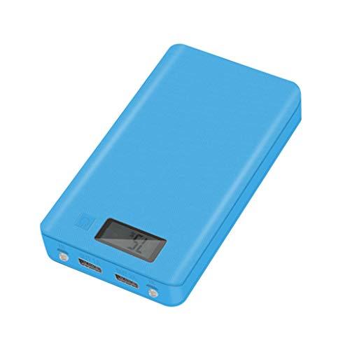 Cómoda fuente de alimentación de carga 5V 2A LCD pantalla digital 6x18650 caso banco de energía Shell caja externa portátil sin batería Powerbank 18650 protector