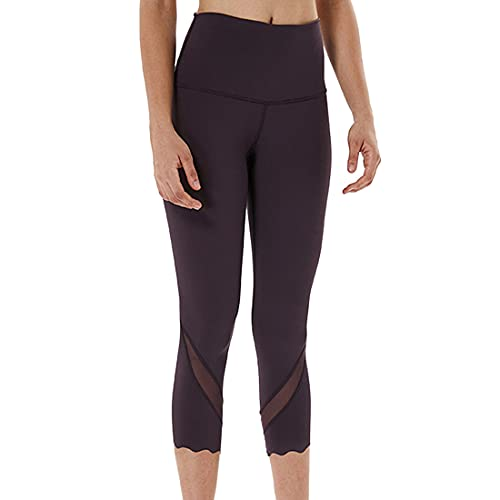 Pantalones de yoga para mujer con cintura alta Control de barriga Entrenamiento Correr Estiramiento Leggings alta Mujeres Slim Fit Scrunch Levantamiento de glúteos Pantalones de yoga Tallas gr