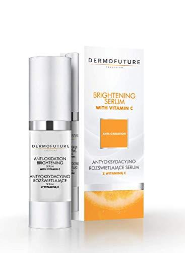 DERMOFUTURE Antioxidantien aufhellendes Serum mit Vitamin C Hyaluronsäure Feuchtigkeitsserum Anti-Aging Anti Falten und Pickelmale für Haut 30 ml