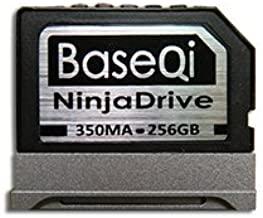 BASEQI NinjaDrive Aluminum 256GB Storage Expansion Card Microsoft Surface Book & Surface Book 2 13.5